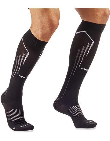 per tibia e recupero sportivo per corsa uyhghjhb ciclismo traspiranti 1 paio di calze a compressione per polpaccio per uomo e donna elastiche