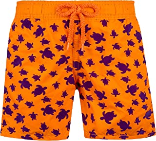 Vilebrequin Boys Swimtrunks Floked Micro Ronde des tortues