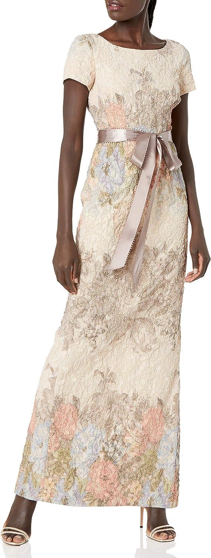 Adrianna Papell Women's Matelasse Column Gown