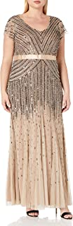 Best adrianna papell plus beaded cap sleeve gown Reviews