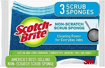 3M Scotch Brite Scrub Sponge, Non Scratch, 3 Pieces