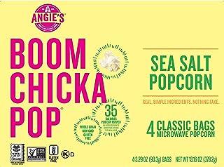 Sponsored Ad - Angie's BOOMCHICKAPOP Sea Salt Microwave Popcorn Fresh-Pop Bowls, 13.16 Ounce, Pack of 6