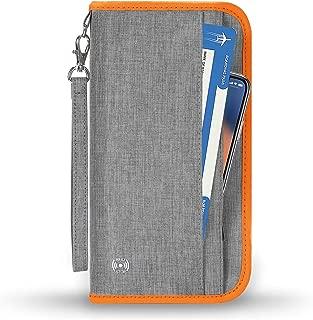 SHINPACK パスポートケース スキミング防止 家族 国内海外旅行用品 通帳ケース 航空券 紙幣 カード 小銭 ペン 鍵など収納可 大容量 トラベルウォレッド パスポートバッグ ポーチ