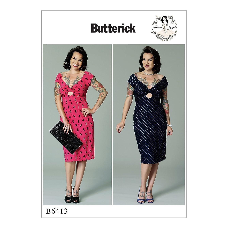 Butterick B6413A50 Women's Keyhole Dress Sewing Pattern, 6-14