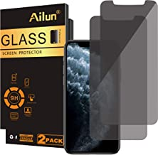 Ailun Privacy Screen Protector Compatible with iPhone 11 Pro Max/iPhone Xs Max 6.5 Inch 2 Pack Anti Spy Case Friendly Tempered Glass [black]
