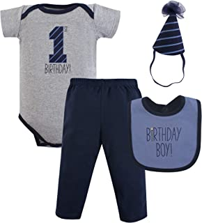 Hudson Baby Baby First Birthday Outfit, 4 Piece