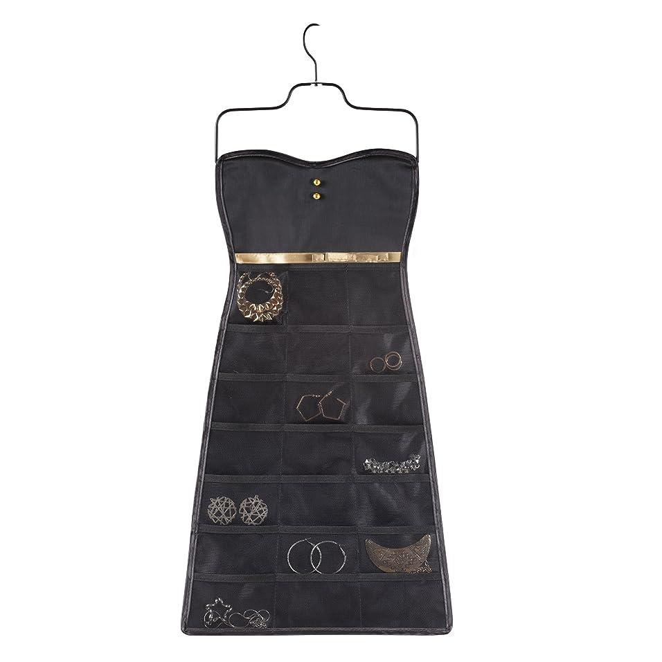 小屋ショルダーホテルumbra アクセサリー収納 BOW DRESS ORGANIZER(リトルブラックドレス ボウ) ブラック/ゴールド 2299045-042