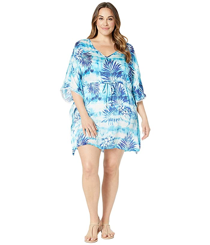 a9158056d6b DOTTI Plus Size Cool Caribbean Caftan Cover-Up at Zappos.com