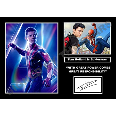 Spiderman The Avengers Autograph Signed Photo Print Tom Holland