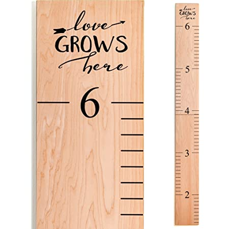 """Loved Beyond Measure Rustic Giant Wooden Ruler 2/'5/"""" to 6/'4/"""" height  chart"""