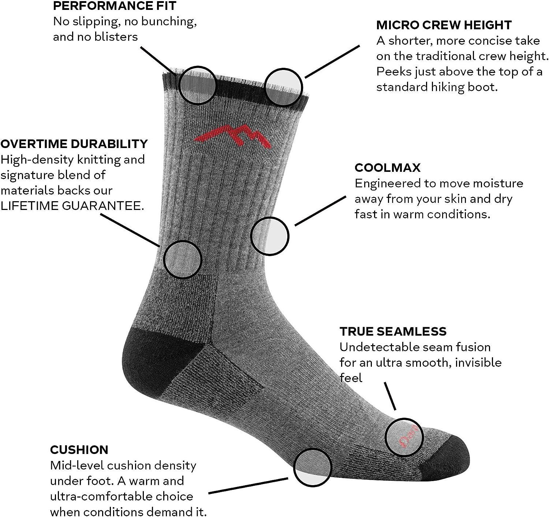 Darn Tough Mens Coolmax Micro Crew Cushion Sock