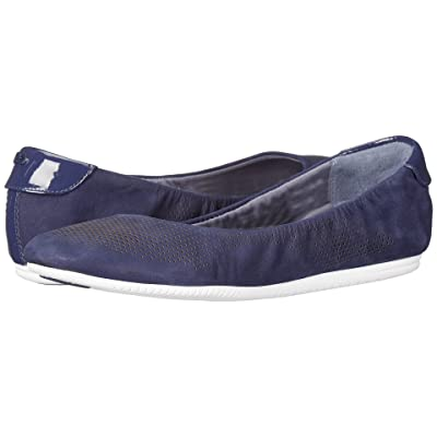 Cole Haan 2.0 Studiogrand Convertible Ballet (Marine Blue Nubuck/Patent/White) Women