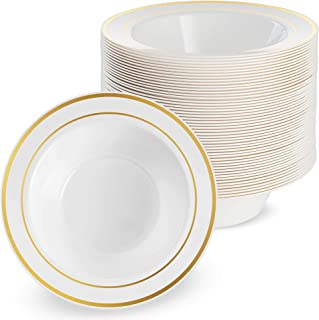 8 20cm GSL 30 x Strong Heavy Duty Ridged Plastic White Square Plates