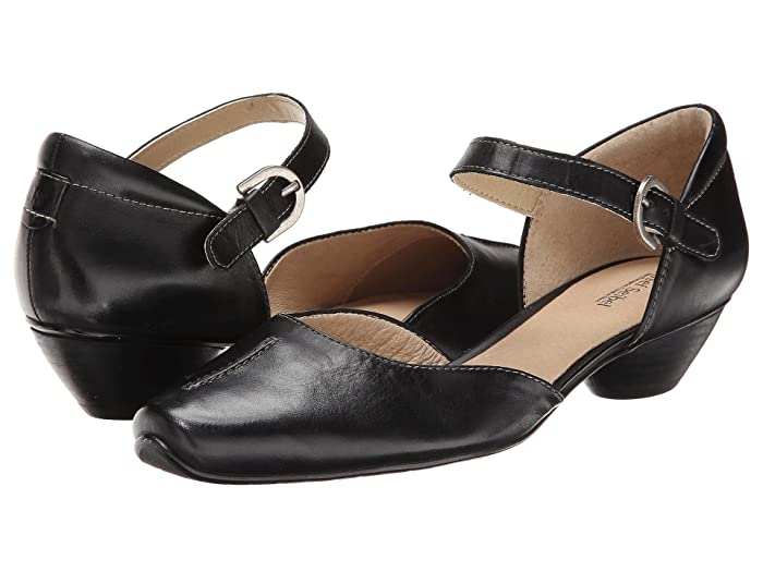 1920s Style Shoes Josef Seibel Tina 17 Black Equipe Womens 1-2 inch heel Shoes $126.00 AT vintagedancer.com