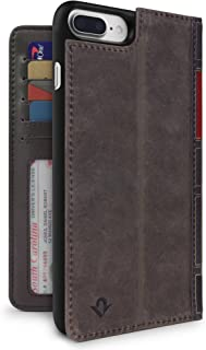 Twelve South BookBook for iPhone 8 Plus/ 7 Plus/ 6 Plus   3-in-1 leather wallet case, display stand and removable shell (brown)