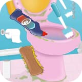 cleaning games toilet for girls