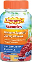 Emergen-C Gummies (45 Count, Strawberry, Lemon and Blueberry Flavors) Dietary Supplement with 750 mg Vitamin C per serving, gluten free