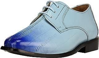 Liberty Boys Lace Up Walking Dress Shoes EEL Skin Print Kids Genuine Leather Gliders (Toddler/Little Kid/Big Kid)