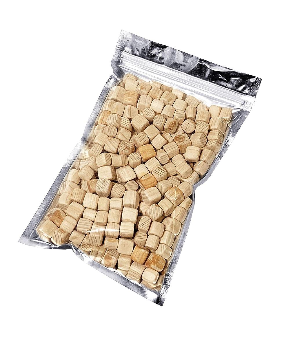 レンディション生息地目に見えるkicoriya 国産ヒノキ キューブ状ブロック 90g サシェ用袋付き