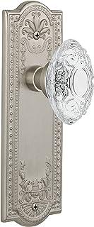 "(satinnickel, 2-3/4"") - Nostalgic Warehouse Victorian Privacy Door Knob with Meadows Plate"