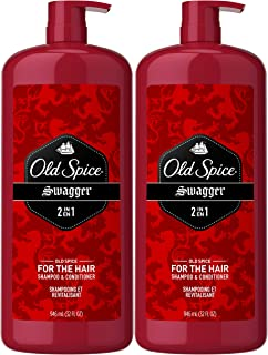 Old Spice, Shampoo and Conditioner 2 in 1, Swagger for Men, 32 Fl Oz, Pack of 2