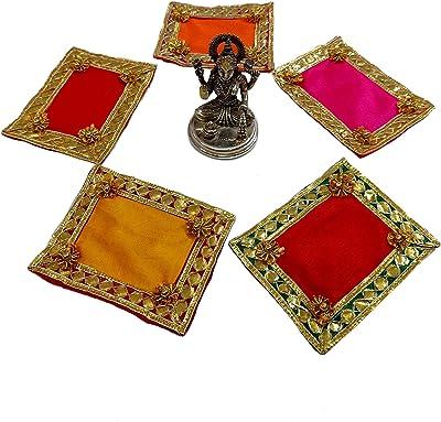 TOHFA CUTESTUFF Pooja Aasan/Pooja mat/Aasan for God Idol (RED)