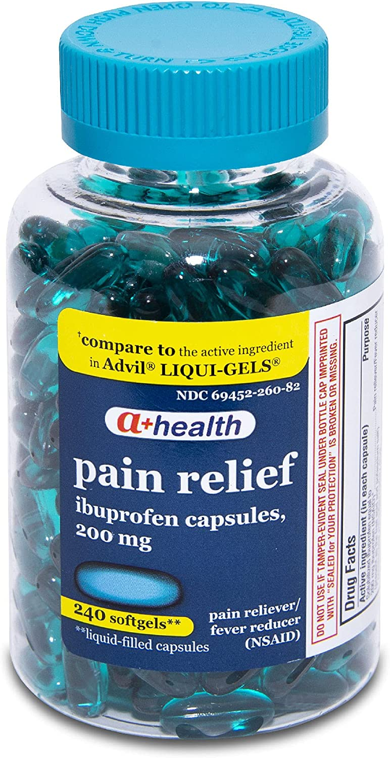 A+Health Ibuprofen 200 Mg Softgels Fever Pain Overseas parallel import regular item Reducer Reliever Max 59% OFF