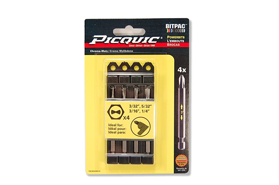PICQUIC 95010 Clutch Set 3/32, 5/32, 3/16, 1/4