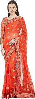 Viva N Diva Sarees for Women`s Banarasi Art Silk Woven Saree with Un-Stiched Blouse Piece,Free Size