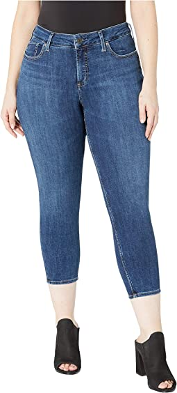 Plus Size Suki Mid-Rise Curvy Fit Skinny Crop Jeans in Indigo