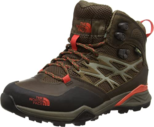 THE NORTH FACE Hedgehog Hike Mid Gore-Tex, Chaussures Bébé Marche Femme - Marron - marron (Morel marron Radiant Orange Grx), 39.5