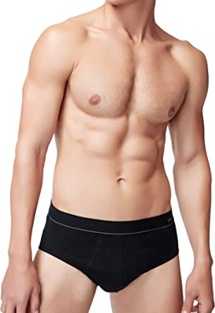 Men's Cotton Stretch Brief Basic Slip Underpants Low Rise Underwear Without Fly Pack of 3