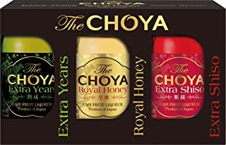 CHOYA Set mit premium Fruchtlikören mit 17% vol. aus Japan - Choya Extra Years, Choya Royal Honey und Choya Extra Shiso, 3 x 50 ml