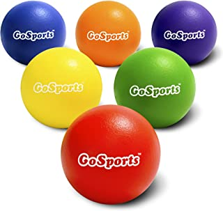 GoSports Soft Touch Foam Dodgeball Set for Kids & Adults | 6 Pack with Mesh Carry Bag| Choose 6