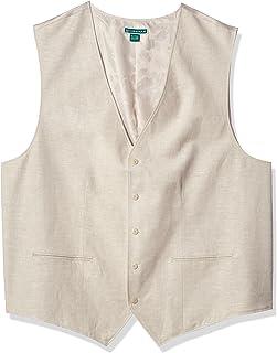 Cubavera Men's Easy Care Linen-Blend Vest