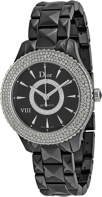 Dior VIII Automatic Diamond Black Ceramic 38 mm Ladies Watch (Black)