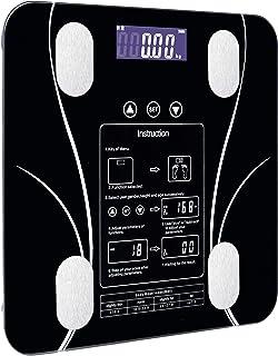Báscula de pesaje, básculas Báscula de pesaje doméstica Inteligente Báscula de Grasa pequeña LED Funciones Digitales en inglés Pantalla en Pantalla Báscula de pesaje USB
