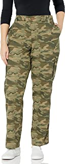 Dickies Women's Plus Size Relaxed Fit Stretch Cargo Straight Leg Pant