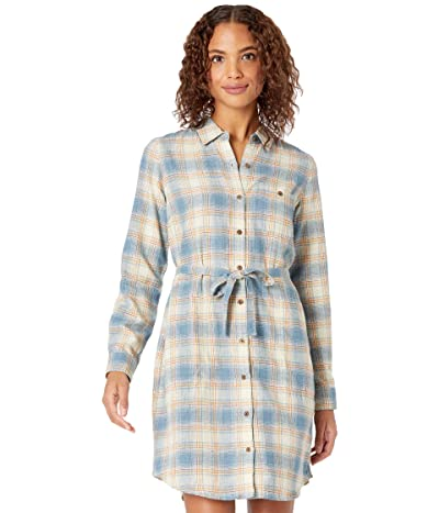 Toad&Co Re-Form Flannel Shirtdress (Almond) Women