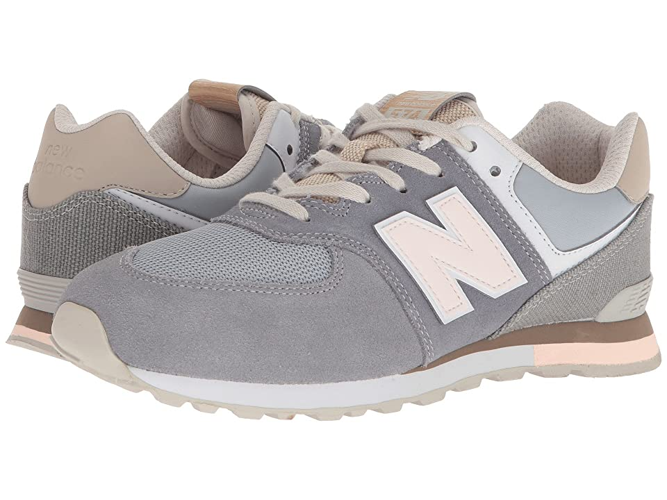 New Balance Kids GC574v1 (Big Kid) (Gunmetal/Steel) Kids Shoes