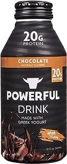 Powerful High Protein, Meal Replacement, Greek Yogurt Drink, Gluten-Free, Natural Ingredients, Kosher, 20g Protein, Chocolate (12 count)