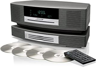 Bose Wave Music System III with Multi-CD Changer - Titanium Silver, Compatible with Alexa or Bluetooth Adapter