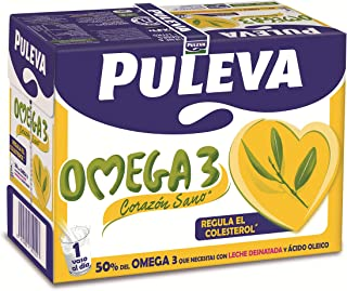 Puleva Leche con Omega 3 - 6 x 1 L