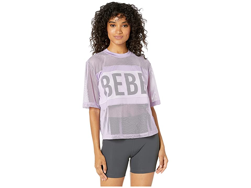 Bebe Sport Sport Mesh Top (Lilac) Women