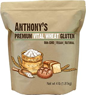 Anthony's Vital Wheat Gluten, 4lbs, High in Protein, Vegan, Non GMO, Keto Friendly