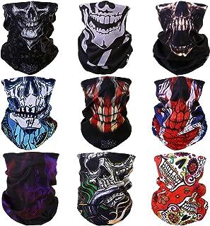 ACBungji Magic Skull Masker Motorfiets Outdoor Sport Naadloze Buis Half Gezichtsmasker Multifunctionele Wrap Hoofdband Hoo...