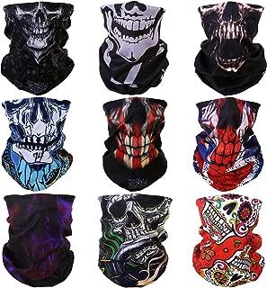 8PCS 9PCS Multifunction Magic Motorcycle Outdoor Sport Seamless Colorful Tube Half Face Mask Wrap Headband Scarf