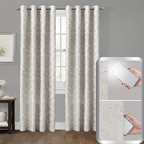 wholesale MAYTEX Smart Everly high quality Blackout Window Curtain, 50 outlet sale inches x 84 inches, Ivory sale