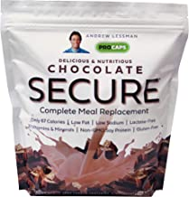 Andrew Lessman Secure Soy Complete Meal Replacement - Chocolate 100 Servings (Bag) – Only 67 Calories, 7 Grams Non-GMO Soy...