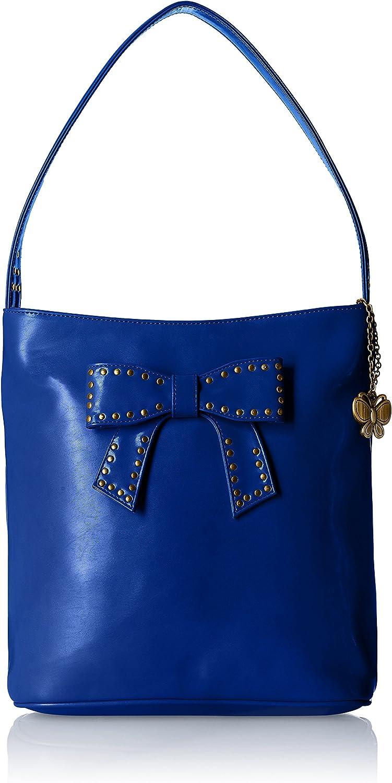 Butterflies Women's Handbag (bluee) (BNS 0581BL)